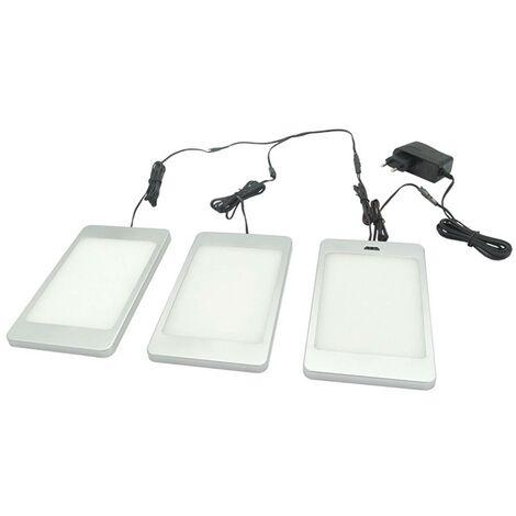 Lámpara LED bajo mueble Svela, set de 3 unidades