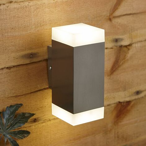 Lámpara LED Biard Solly Doble Exterior para Jardín de Acero Inoxidable IP44