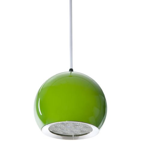 Lámpara LED Colgante Bola Verde 12W 1100Lm 30.000H Rowan [HO-SUSP12W-B-G-WW]   Blanco Cálido (HO-SUSP12W-B-G-WW)