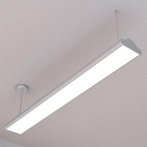 Lámpara LED colgante Lexine oficina blanco univer.
