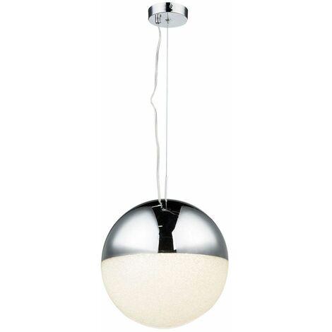 Lámpara LED colgante living comedor iluminación de cristal esfera cromada pasillo luz colgante Globo 56127H
