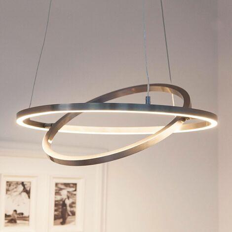 Lámpara LED colgante Lovisa con dos anillos LED