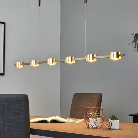 Lámpara LED colgante Niro, atenua., acabado dorado