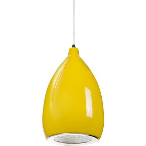 Lámpara LED Colgante Pera Amarillo 12W 1100Lm 30.000H Rebecca [HO-SUSP12W-A-Y-WW]   Blanco Cálido (HO-SUSP12W-A-Y-WW)