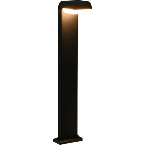 Lámpara LED de jardín ovalada negra 9 W