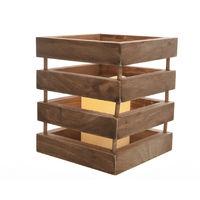 Lampara led de madera 15x18cm interior