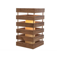 Lampara led de madera 15x28cm interior
