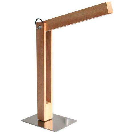 Lámpara Led de madera CARFI 40, Blanco cálido, regulable