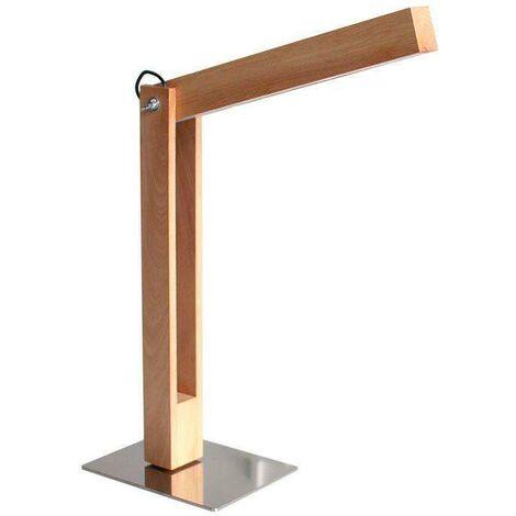 Lámpara Led de madera CARFI 50, Blanco cálido, regulable