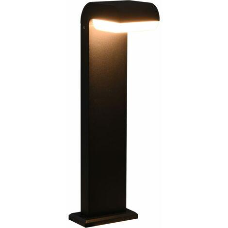 Lámpara LED de pared para jardín ovalada negra 9 W