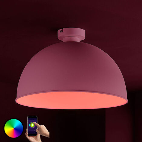 Lámpara LED de techo Bowl WiFi 41cm, blanco