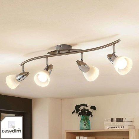 Lámpara LED de techo Cora, easydim, 4 luces