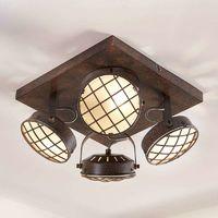 Lámpara LED de techo de cocina Tamin, marrón óxido