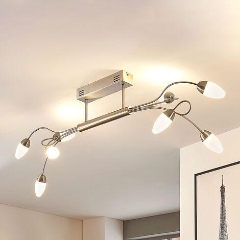 Lámpara LED de techo Deyan, 8 brazos, atenuable