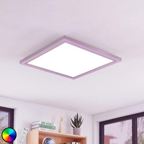 Lámpara LED de techo Lynn, CCT+RGB, 42x42 cm