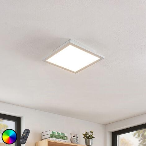 Lámpara LED de techo Milian con mando 30x30 cm