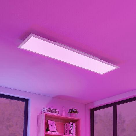 Lámpara LED de techo Milian RGBW, 120x30 cm
