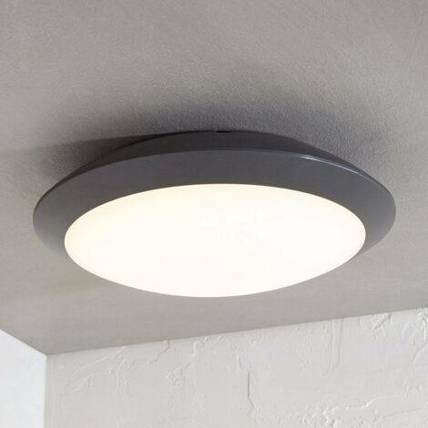 Lámpara LED de techo Naira, gris, sin sensor