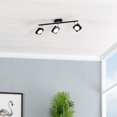 Lámpara LED de Techo Orientable Capri 3 Focos 18W Negro Blanco Neutro 4000K