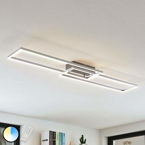 Lámpara LED de techo Quadra 2 bombillas 110 cm