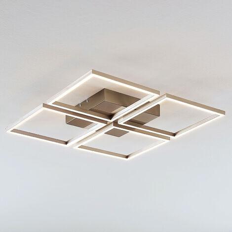 Lámpara LED de techo Quadra, 4 brazos, atenuable