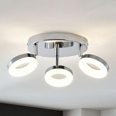 Lámpara LED de techo Ringo 3 luces circular