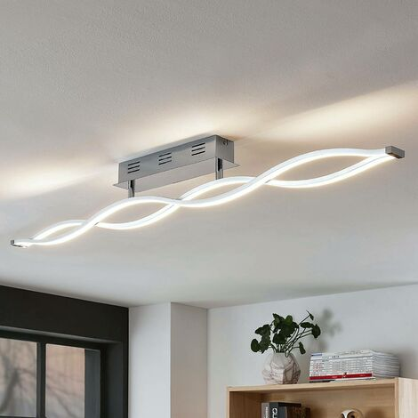 Lámpara LED de techo Roan, ondulada