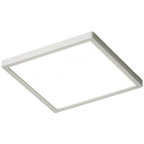 Lámpara LED de techo Solvie angular, plata
