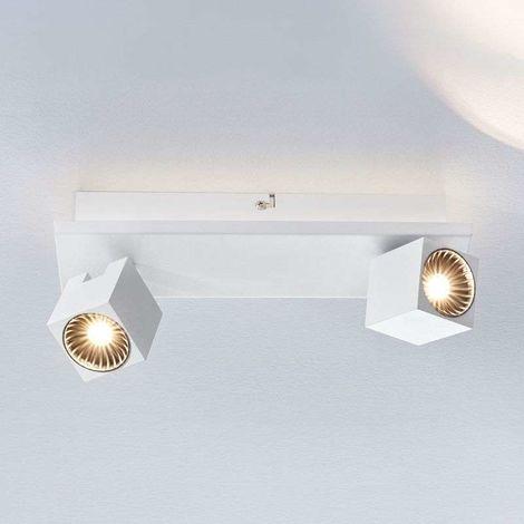 Lámpara LED de techo Taly, 2 focos blancos
