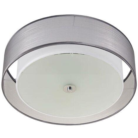 Lámpara LED de techo Tobia atenuable, gris