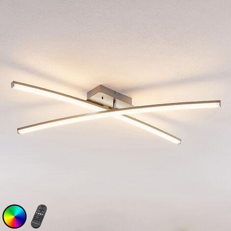 Lámpara LED de techo Trevon mando a distancia