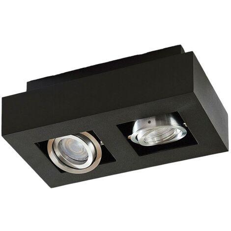 Lámpara LED de techo Vince, 25x14cm en negro