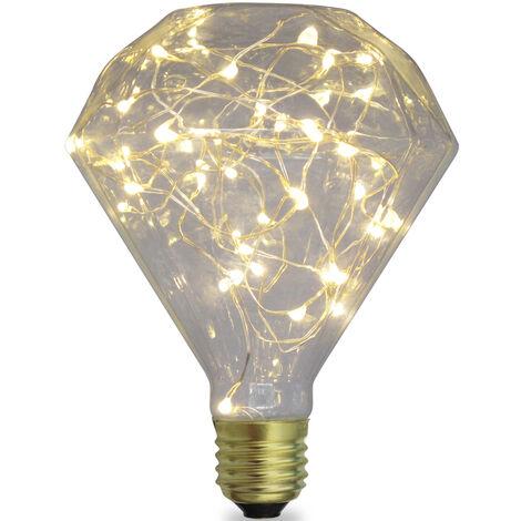 Lámpara Led diamante starlight decorativa E27 2W 50Lm 3000°K 95x137mm. (GSC 2004828)