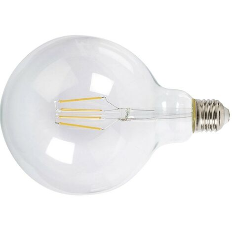 LAMPARA LED FILAMENTO GLOBO G125 6W 2700K TRAN