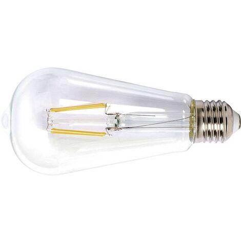 LAMPARA LED FILAMENTO ST64 E27 6W 2700K TRANSP