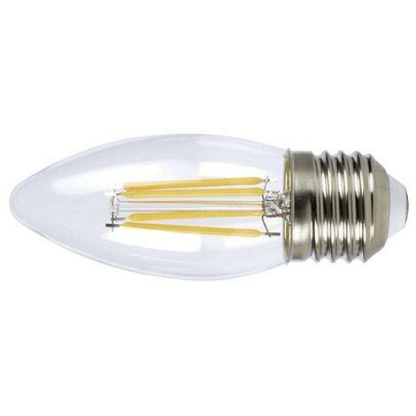 LAMPARA LED FILAMENTO VELA E27 4W 6400K TRANSP