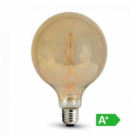 Lámpara led globo filamento Gold Cover G125 E27 2200K 8W 360°