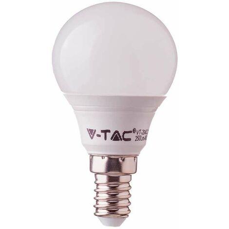 Lámpara led globo SMD5630 P45 E14 6W 180°