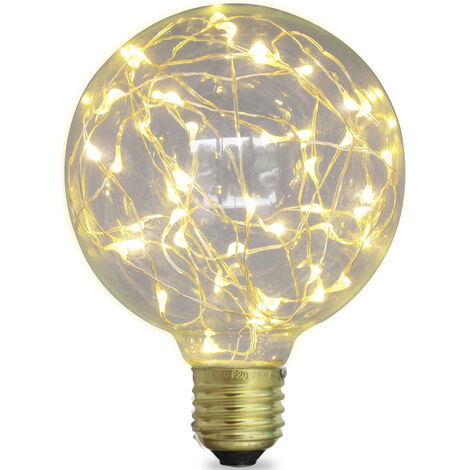 Lámpara Led globo starlight decorativa E27 2W 50Lm 3000°K 125x170mm. (GSC 2004832)