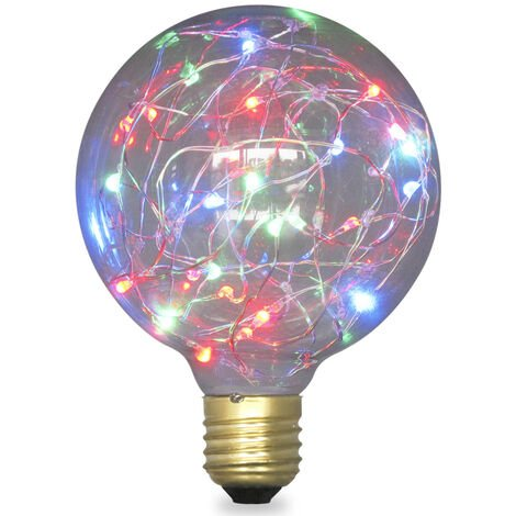 Lámpara Led globo starlight decorativa RGB E27 2W 50Lm 95x127mm. (GSC 2004843)