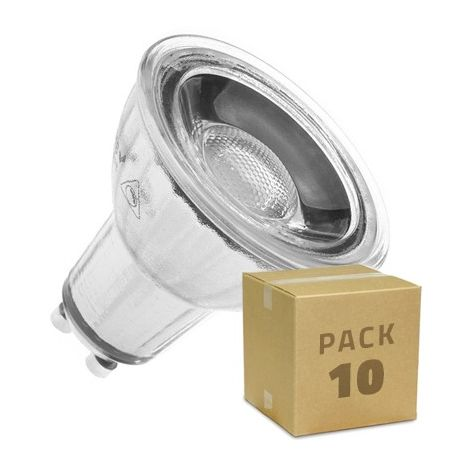 Lámpara LED GU10 COB Cristal 45º 7W Regulable