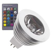 Lámpara LED GU5.3 MR16 12V DC RGB 60º 3W