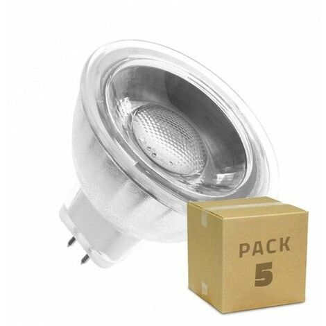 Lámpara LED GU5.3 MR16 COB Cristal 12V 45º 5W