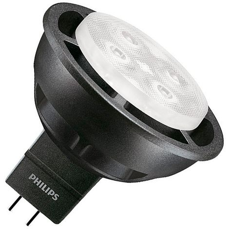 4000K Lámpara GU5 3 LED SpotLV 6 MR16 3W 12V Neutro Regulable PHILIPS 36º Black Blanco Master VLE y76bfg
