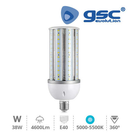 Lámpara LED industrial 38W E40 5000K-5500K IP63
