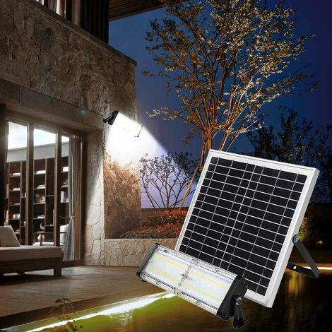 Lámpara Led jardín y exterior panel solar 5000 lumens FLOOD
