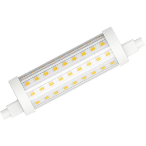Lámpara Led Lineal regulable R7S 15W 2700°K 2000Lm 118mm. (Duralamp L2973W-D)