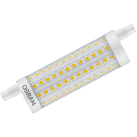 Lámpara Led Lineal regulable R7S 15W 2700°K 2000Lm 118mm. (Osram 4058075432550)