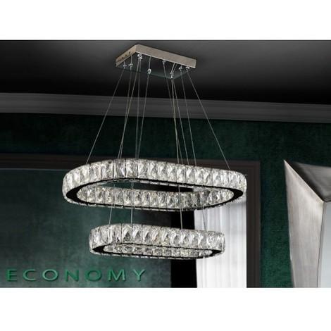 LAMPARA LED OVAL DIVA Color Cromo