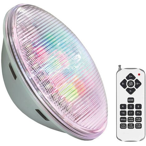 Lámpara LED PAR56 RGB para piscinas, G53, 45W, Acero Inox. Int., RGB, regulable
